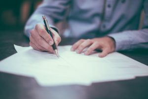 signing the form for California Divorce Proceedings